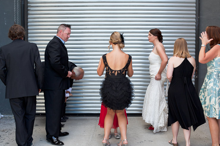 Getting ready for family photos Wedding photography in Williamsburg Brooklyn