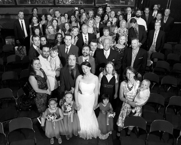 Alternative Wedding photography in Williamsburg Brooklyn Knitting Factory