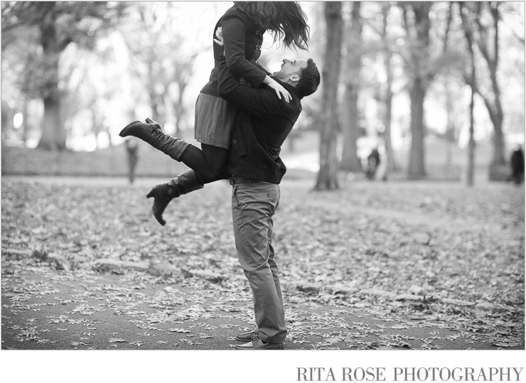Winter Engagement Photography in Central Park North New York NY - Artistic Wedding by RitaRosePhotography